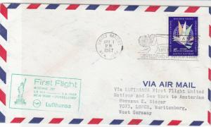 United Nations 1967 Development Prog. & 1st Flight Slogans Stamp Cover Ref 28783