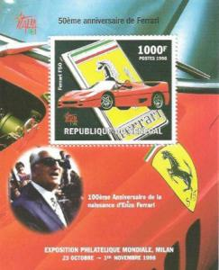 Senegal - 1998 Ferrari Anniversary - Stamp Souvenir Sheet - 19F-009
