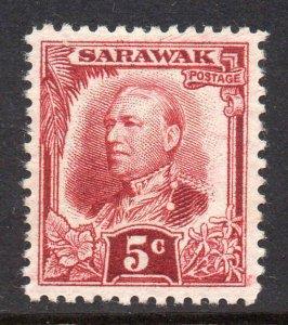 Sarawak 1932 KGV 5c deep lake SG 95 mint