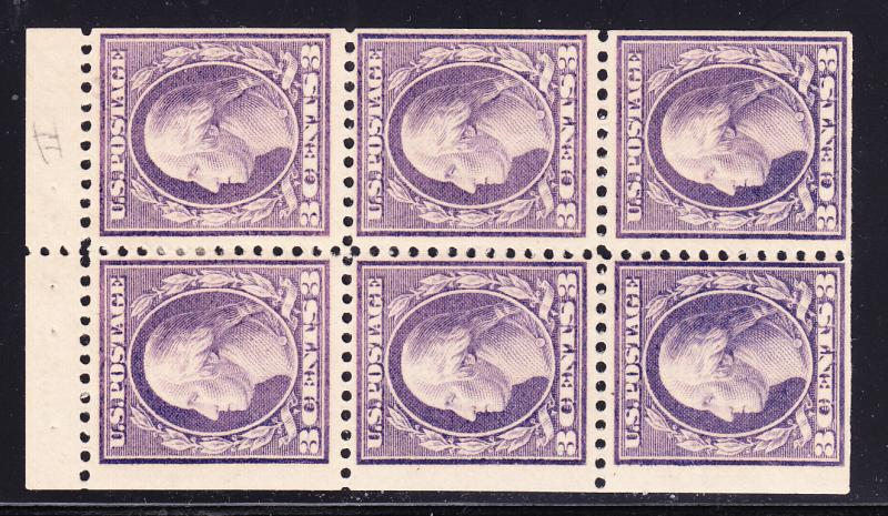 U.S. Booklet Pane of 6 1917 Nr. 502b  Mint VF(*)
