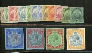 BERMUDA GEORGE V SCOTT #81/97 MINT HINGED --SCOTT VALUE $710.05