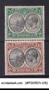 DOMINICA - 1923-33 KGV SG#69 & 71 2V - MINT HINGED