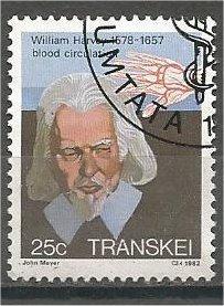 TRANSKEI, 1982, used 25c, William Harvey. Scott 99