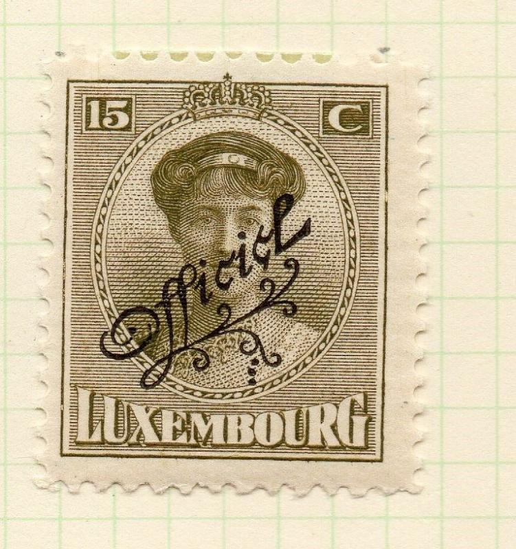 Luxembourg 1921-22 Early Issue Fine Mint Hinged 15c. Official Optd 253197
