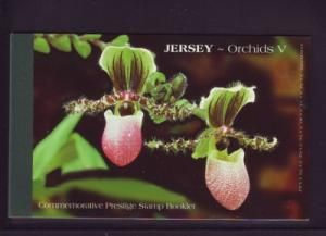 Jersey  Sc 1128a-1129a 2004 Orchids stamp booklet mint NH