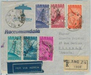 BK0009 - ITALIA REGNO - Storia Postale:  POSTA AEREA #136 /41 su BUSTA  1947