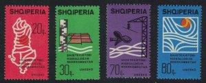 Albania Intl Hydrological Decade 4v 1966 MNH SG#1031-1034
