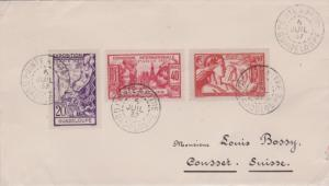 Guadeloupe 20c, 40c and 90c Paris International Colonial Arts Exposition 1937...