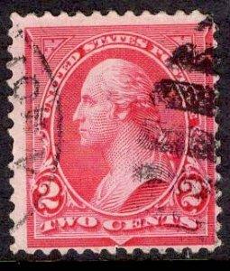 US Stamp #252 Carmine Type III USED SCV $13.00