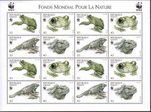 Haiti WWF Ground Iguana and Giant Tree-frog Sheetlet of 4 sets SG#1636-1639