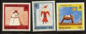 Gibraltar 540-2 MNH Christmas, Snowman, Nativity, Santa Claus