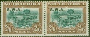 South West Africa 1927 2s6d Green & Brown SG65 Fine Mtd Mint