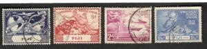1949 Fiji SCOTT #141-44 UNIVERSAL POSTAL UNION Θ used stamp set