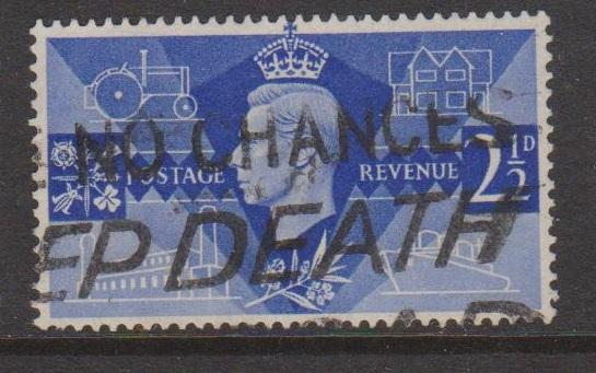 Great Britain Sc#264 Used Interesting Cancel
