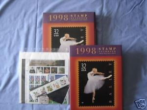 1998 USPS Yearbook Commerative w/ stamps MNH - The Arts - SCARCE