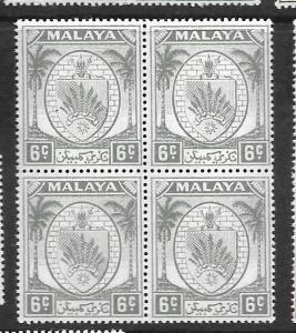 MALAYA NEGRI SEMBILAN (P0401B) ARMS  6C  SG47A BL OF 4     MNH