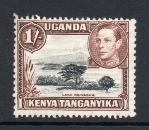 KUT 1938 KGVI 1/- perf 13x11¾ SG 145a mint. Kenya Uganda Tanganyika