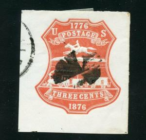 UNITED STATES CUT SQUARE CLEAN  SCOTT#U218  USED SCOTT $ 20.00