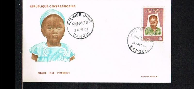 1964 - Central Africa FDC/Cover - Childhood [DH026]