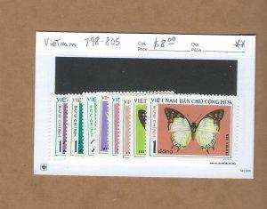 Vietnam 798-805  MNH