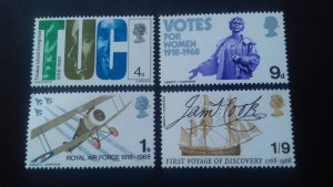 Great Britain 1968 Anniversaries Mint