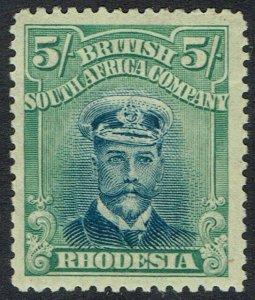 RHODESIA 1913 KGV ADMIRAL 5/- DIE III PERF 14