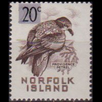 NORFOLK IS. 1966 - Scott# 78 Petrel 20c NH
