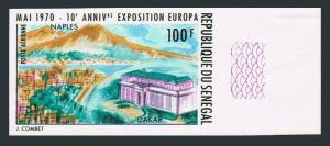 Senegal C80 imperf,MNH.Michel 423B. NAPLES-1970.Bay of Naples,Dakar Post Office.