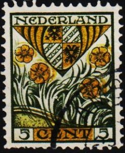 Netherlands. 1927 5c+3c S.G.360A Fine Used