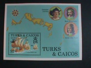 TURKS & CAICOS-1988-SC# 738- COLUMBUS DISCOVERED AMERICA 500TH ANNIVERSARY-MNH
