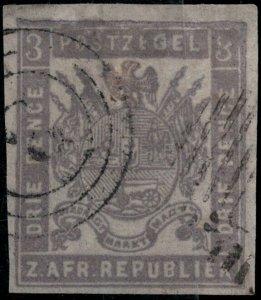 Transvaal 1870 Used SC 25 SCV $73.00