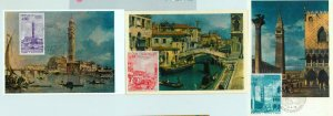 90239 - MONACO - set of 3  MAXIMUM CARD -  Venezia ART Architecture 1972
