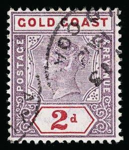 Gold Coast Scott 28 Gibbons 27b Used Stamp