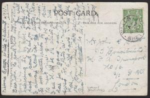 GB SCOTLAND 1917 postcard WALLS / SHETLAND cds.............................1254