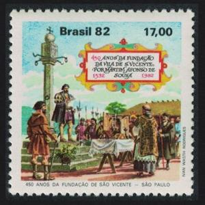 Brazil 450th Anniversary of Sao Vicente SG#1957