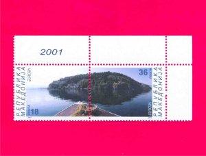 MACEDONIA 2001 Europa CEPT Water - Treasure of Nature Sea Island pair Mi228-229