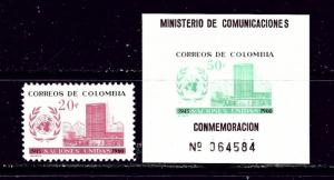 Colombia 724-25 MNH 1960 United Nations