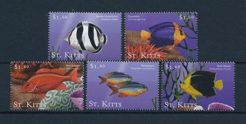 [48468] St. Kitts 2001 Marine life Fish from set MNH