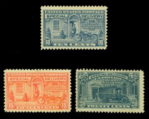US 1922-25  SPECIAL DELIVERY set   Scott # E12-E14   mint MNH/LH