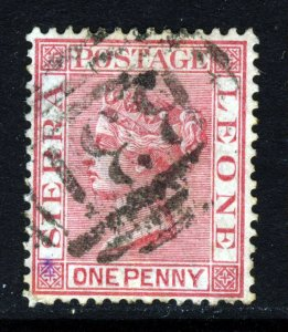 SIERRA LEONE Queen Victoria 1883 1d. Rose-Red Wmk Crown CA SG 24 VFU
