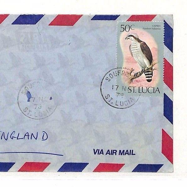 UU462 1979 St Lucia North Devon GB Cover {samwells-covers}