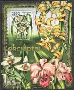 CA841 2012 CENTRAL AFRICA NATURE FLOWERS ORCHIDS LES ORCHIDEES BL MNH
