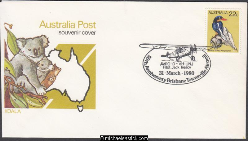 31 March 1980: 50th Anniv First Airmail Flight Brisbane To Townsville APM8420