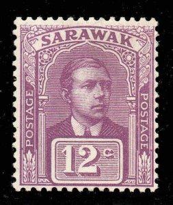 Sarawak 1918 KGV 12c purple SG 56 mint