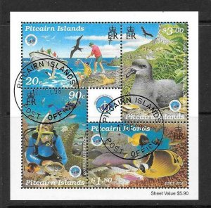PITCAIRN ISLANDS SGMS543 1998 YEAR OF THE OCEAN FINE USED