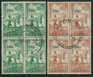 NEW ZEALAND 1941 Health fine used blocks of 4..............................38749
