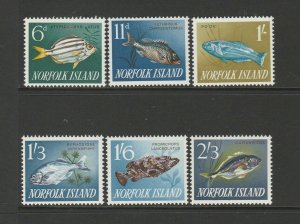 Norfolk Island 1962/3 Fish set UM/MNH SG 43/8