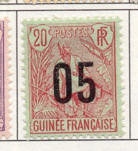 French Guinea 1912 Early Issue Fine Mint Hinged 05c. Surcharged 193452
