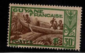 French Guiana Scott 119 MH* stamp expect similar centering
