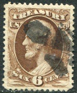 O75 6c Treasury Used VF